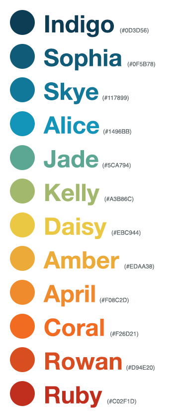 Viget color names