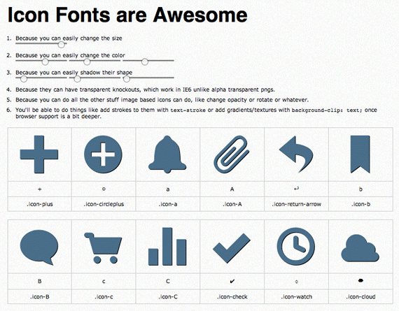 Making, Using, & Bulletproofing Icon Fonts