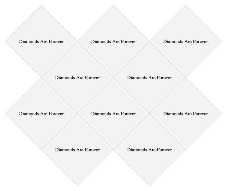 Image of diamond grid