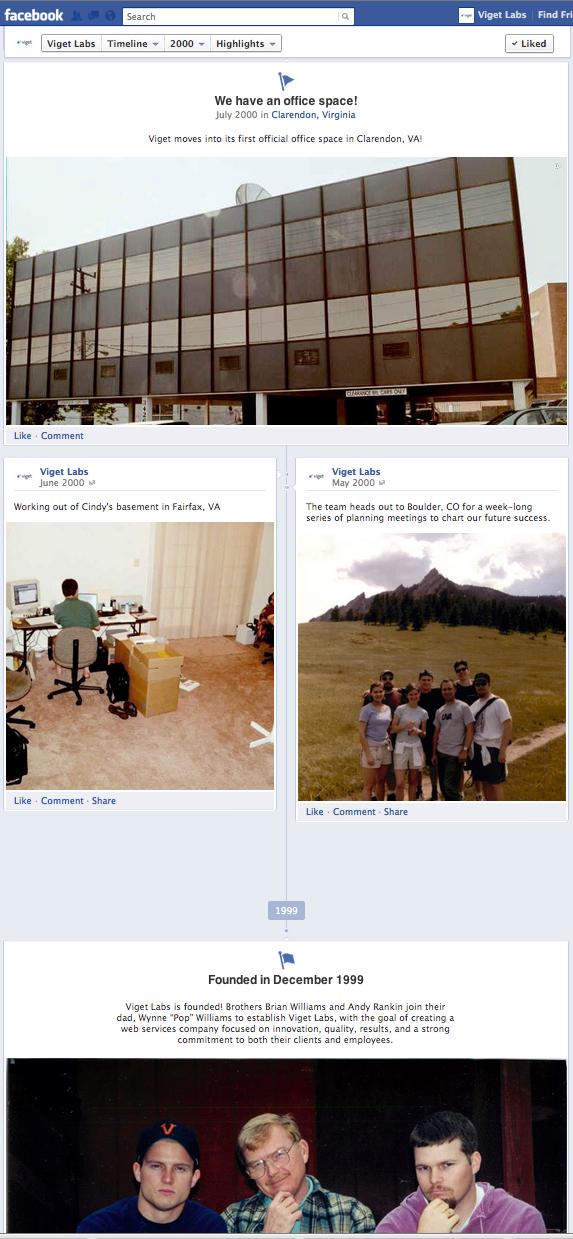 Translating Viget's History to Facebook Timeline
