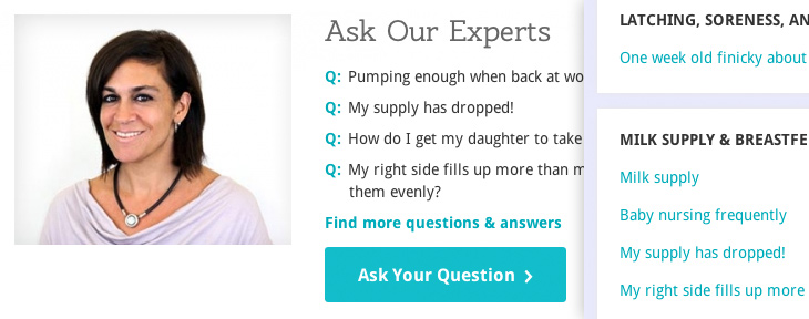 Lansinoh - Ask The Experts feature