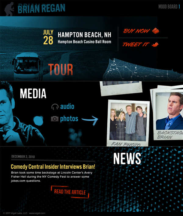 Design with Personality: Updating Brian Regan's Official Site