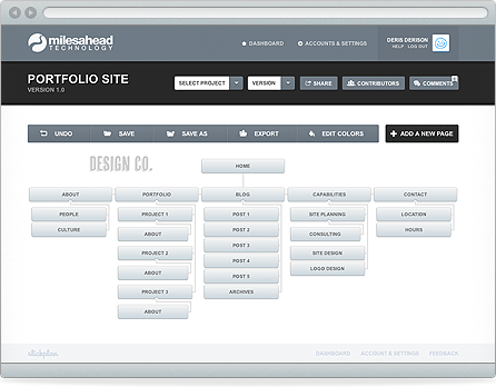 Slickplan Interface