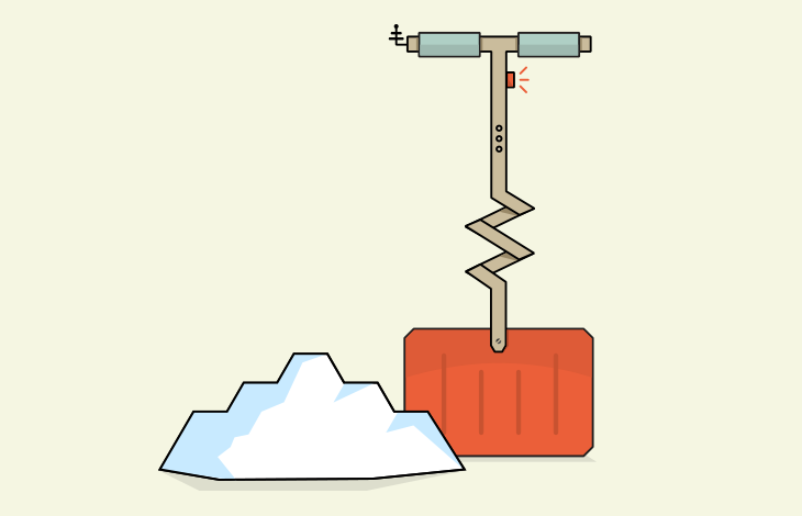 Snow shovel illustration