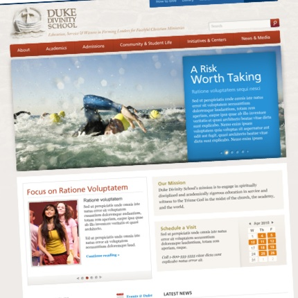 Duke Divinity home page comp