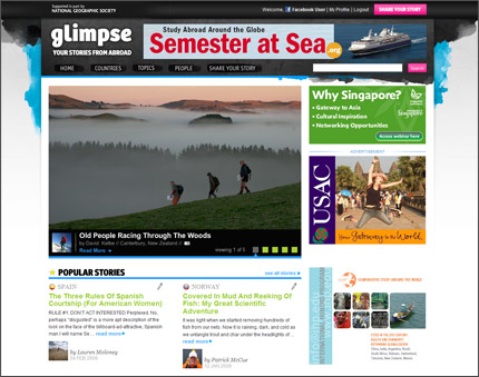 Glimpse.org screenshot