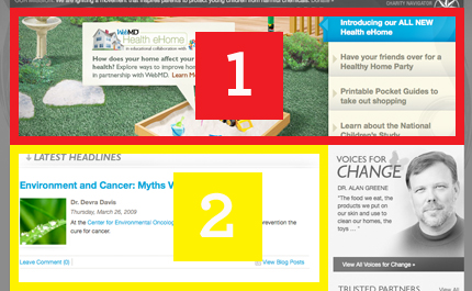 HealthyChild Homepage Zones