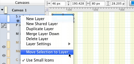 Omnigraffle Move Selection to Layer Contextual Menu