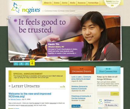 NCGives screen shot