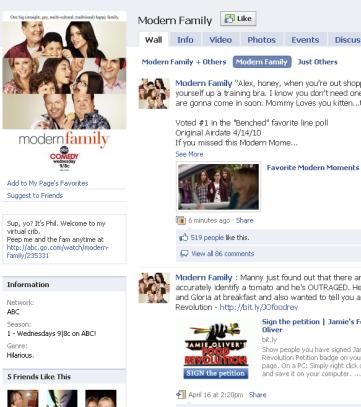 New Facebook link