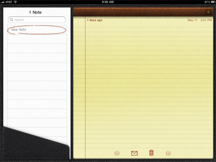 Notes on the iPad