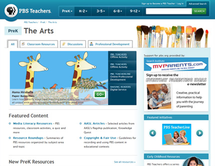 PBS Teachers screenshot
