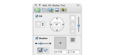 Omnigraffle pin palettes open