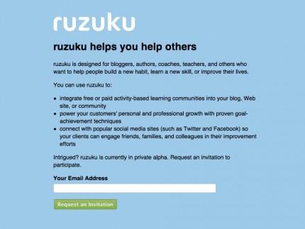 Ruzuku before the redesign