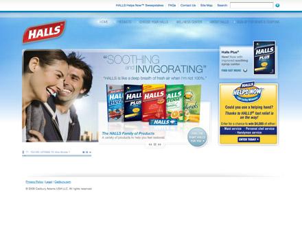 Halls site screenshot