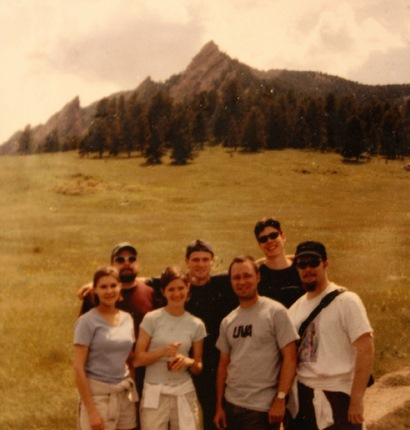 Viget founders and friends in Boulder waaaaay back when