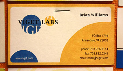 Viget's First Business Card