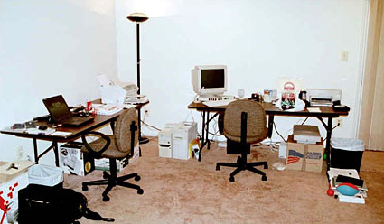 Viget's first office -- in Cindy's basement
