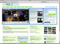 Chevy Volt Social Media Web Site Screenshot