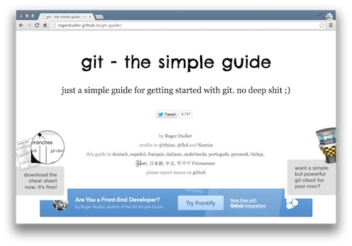 The Git Guide screenshot on the Viking Code School blog