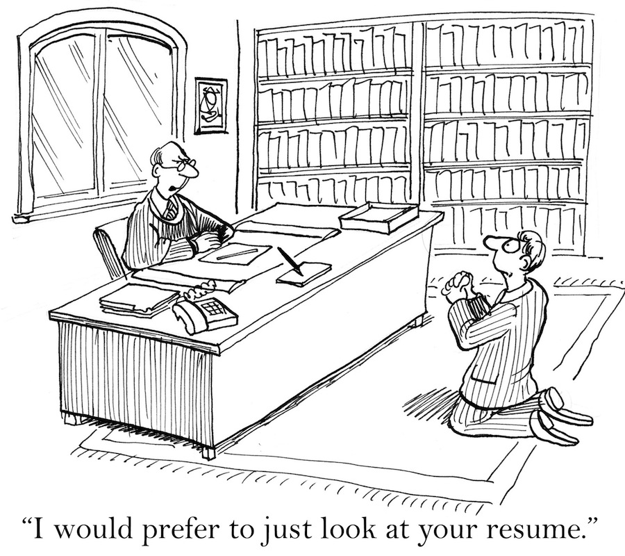 Getting hired comic