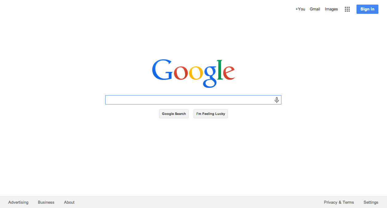 Your first task is to build a clone of google com s homepage a