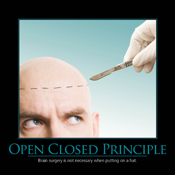 Open-closed principle brain surgery