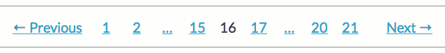 Pagination middle example