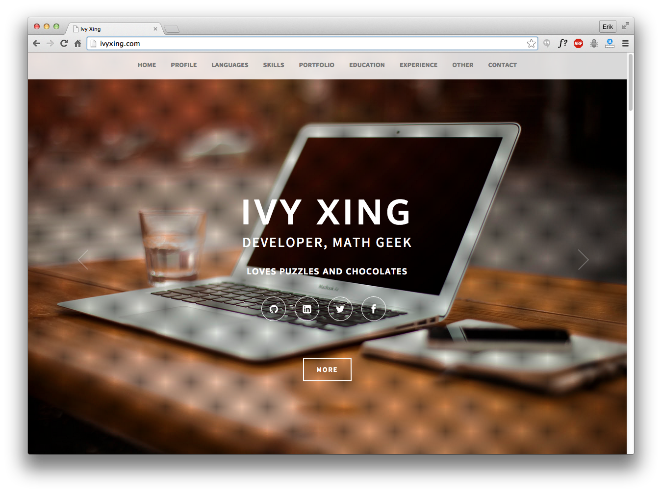 Ivy Xing's Personal Website