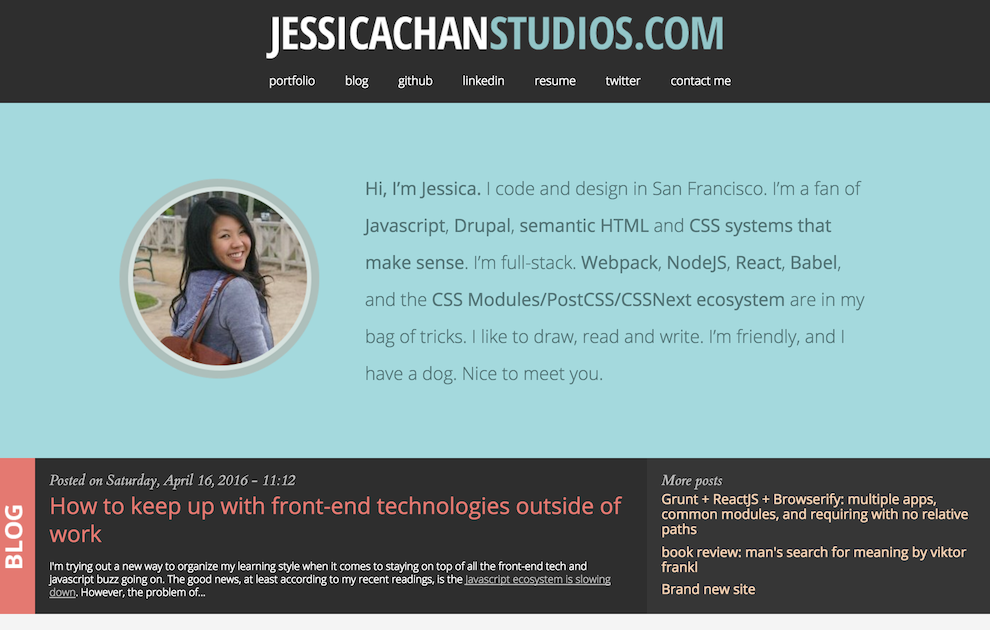 Jessica Chan's personal website