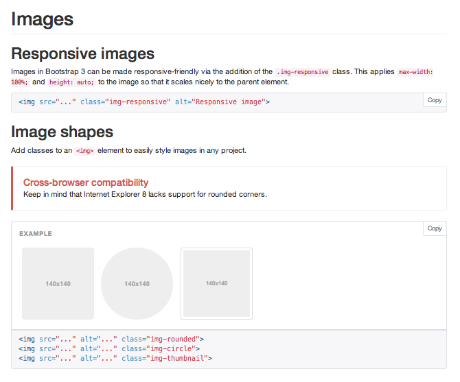 Twitter Bootstrap Image Options