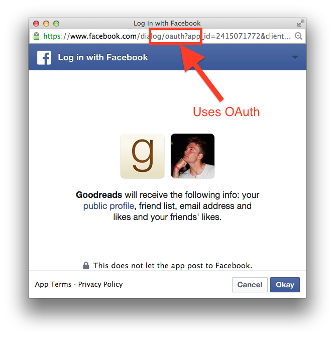 Oauth Login step 2
