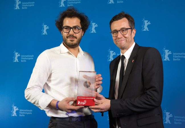 The Audi Short Film Award goes to Lebanese director Karam Ghossein – here with Jason Lusty, Head of Marketing Germany at AUDI AG