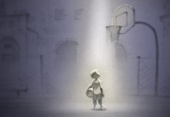"""Young Kobe."" Film still from DEAR BASKETBALL."