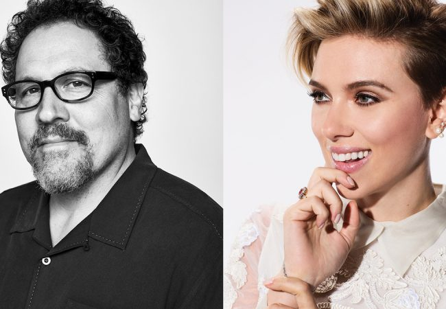 Tribeca Talks: Directors Series: Jon Favreau with Scarlett Johansson.