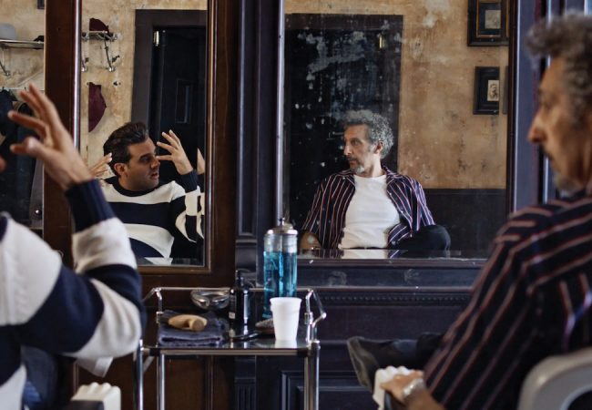 Bobby Cannavale and John Turturro in HAIR. Photo credit: Marissa Kraxberger.