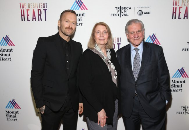 NEW YORK, NY - APRIL 24: Host Bob Harper, Director Susan Froemke and Director of Mount Sinai Heart and Physician-in-Chief of The Mount Sinai Hospital Dr. Valentin Fuster, MD, PHD during the Tribeca Film Festival premiere for the feature documentary, The Resilient Heart
