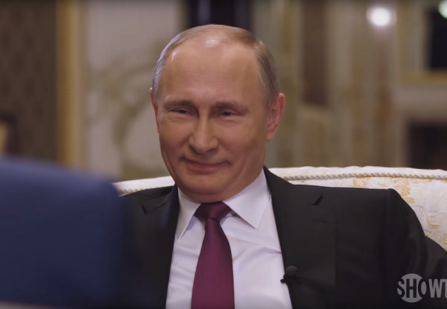 Watch Putin Offer His Opinion of Senator McCain in New Clip from Oliver Stone's THE PUTIN INTERVIEWS
