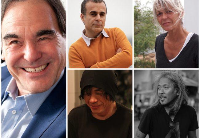 Clockwise (l to r) Oliver STONE, Bahman GHOBADI, Agnès GODARD, Lav DIAZ, JANG Sun-woo