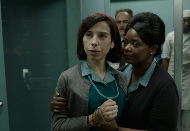 Sally Hawkins and Octavia Spencer in the film THE SHAPE OF WATER.