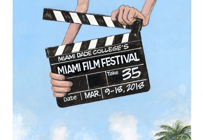 Miami Film Festival Unveils 2018 Festival Poster Created by Miami Herald's Cartoonist Jim Morin