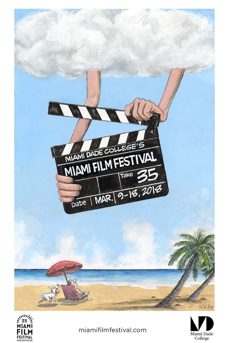 Miami Film Festival 2018 Festival Poster Created by Jim Morin