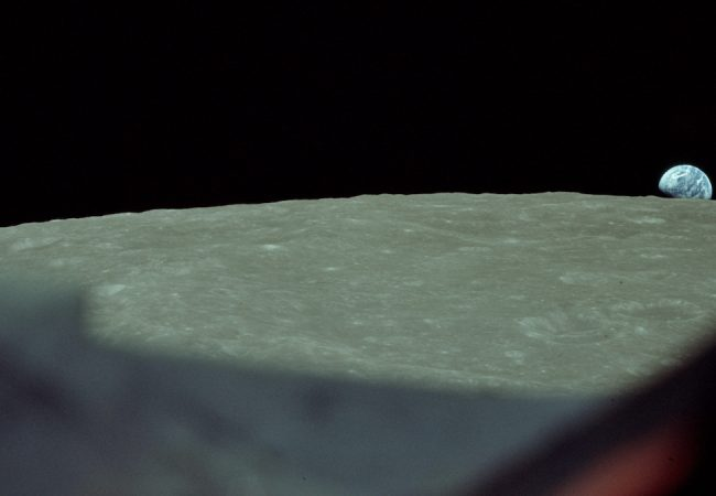 "The original ""Earthrise"" image, 1968. Photo credit: Bill Anders/NASA."