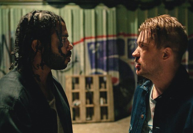 Daveed Diggs and Rafael Casal appear in Blindspotting by Carlos López Estrada