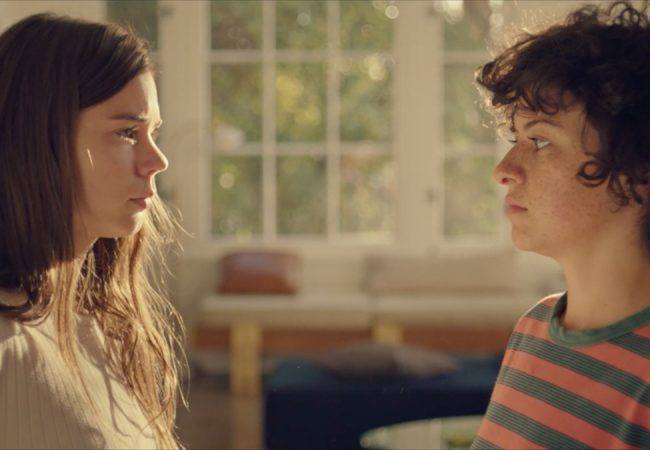 Alia Shawkat as Alia and Laia Costa as Laia in DUCK BUTTER. Photo credit: Hillary Spera.