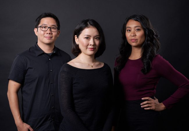 From left: HBO APA Visionaries finalists Huay-Bing Law, Feng-I Fiona Roan, and Maritte Go.