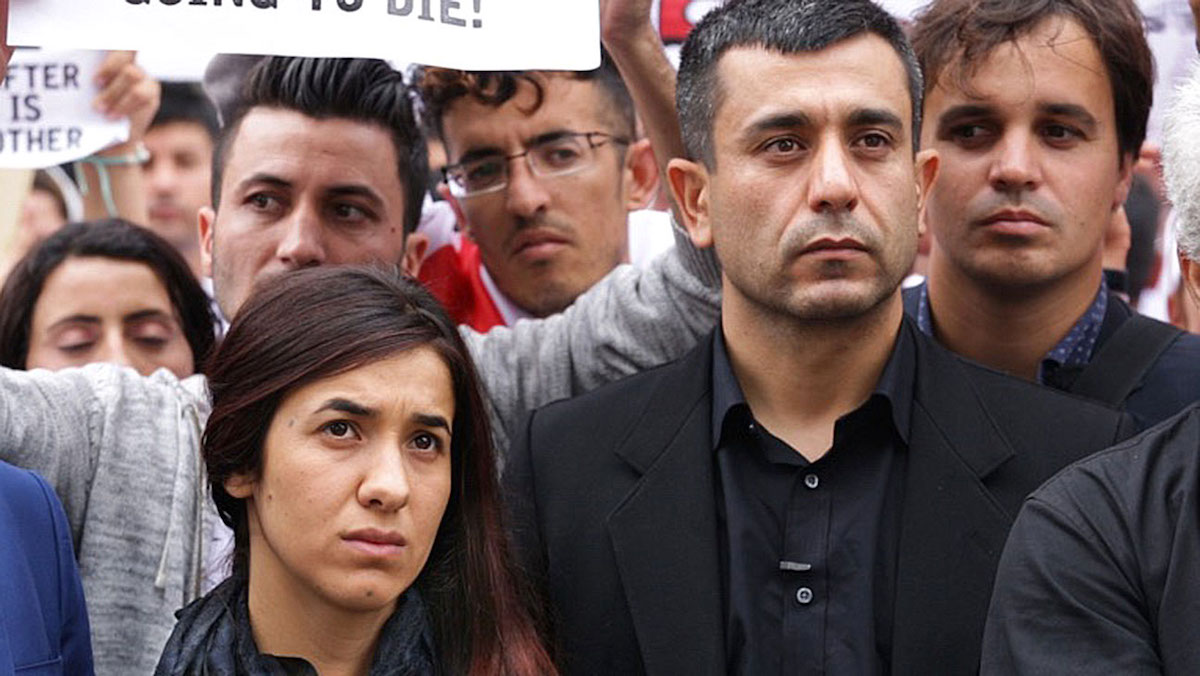 Nadia Murad and Murad Ismael appear in On Her Shoulders by Alexandria Bombach.