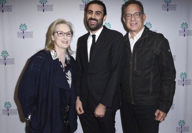 Actress Meryl Streep, PSIFF Artistic Director Michael Lerman, Actor Tom Hanks