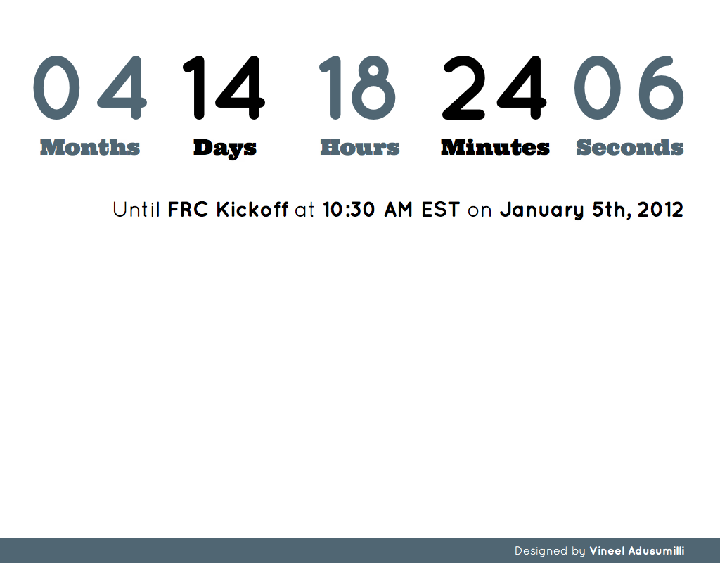 FRC Countdown screenshot