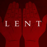 Lent Hands Red Background Slide